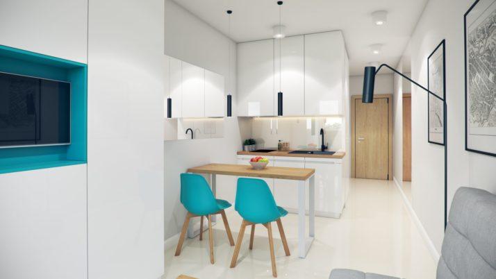 MINI apartament typu STANDARD- wizualizacja 2