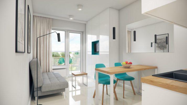 MINI apartament typu STANDARD- wizualizacja 1