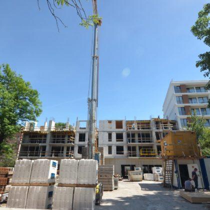 2 CZERWCA 2017- ściany konstrukcyjne 3 piętra już ukończone